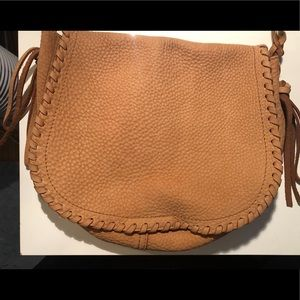 Cole Haan tan soft pebbled leather bag
